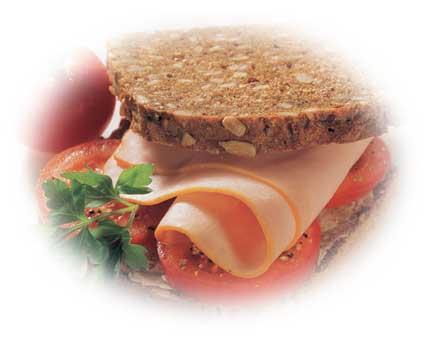 Höhenrainer-Putenwurst-Puten-Schinken-Brustschinken-Brot