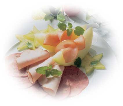 Höhenrainer-Putenwurst-Puten-Schinken-Lachsschinken-Melone