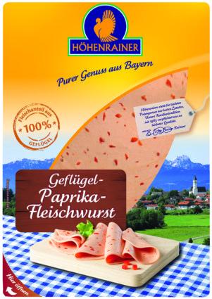 Geflügel Paprika Fleischwurst Mortadella
