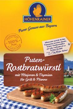 Puten-Schmucketikett-Rosbratwürstl-Putenwurst-Höhenrainer-Muslime-Halal-Produkte