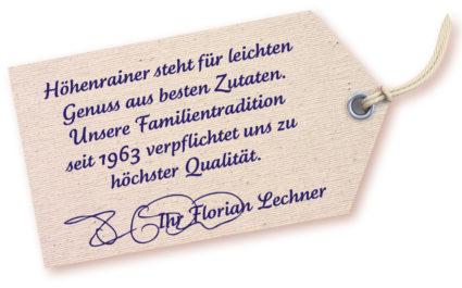 Die Qualitätsgarantie von Florian Lechner